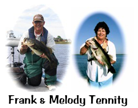 Frank & Melody Tennity bass fishing guides in Central Florida
